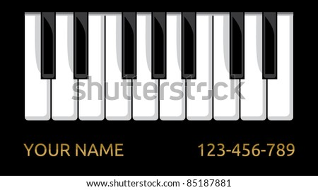 Piano Business Card Stock Vector Royalty Free 85187881 Shutterstock