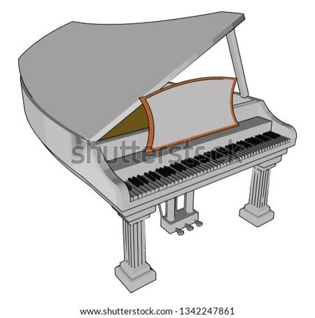 Piano Can Have Many Individual Parts Stock Vector (Royalty