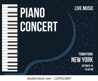 Piano Concert Poster design, Background