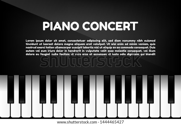 Piano Concert Template Text Space Music Stock Vector Royalty Free 1444465427