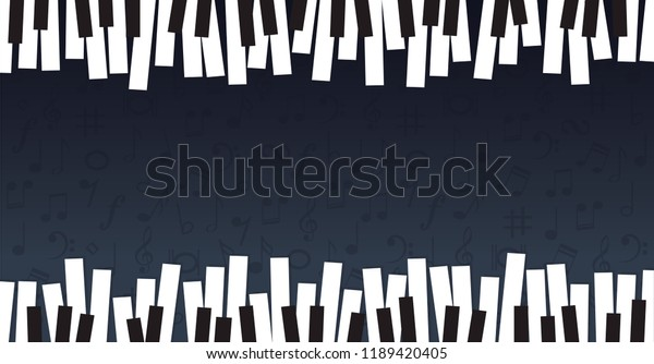 Piano Day Keyboard Music Notes Musical Stock Vector (Royalty Free