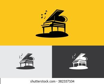 Piano flat logo vector