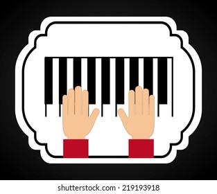 piano graphic design , vector illustration