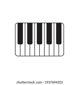 Piano icon design isolated on white background