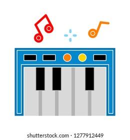 piano icon - piano  isolate,  music instrument illustration - Vector piano