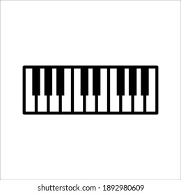 Piano Icon Isolated on White Background. color editable eps 10