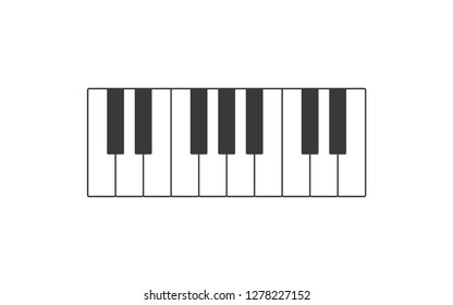 Piano icon.  Piano keyboard illustration.