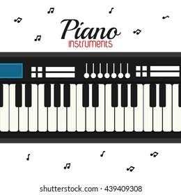 piano icon. Music instrument. vector graphic
