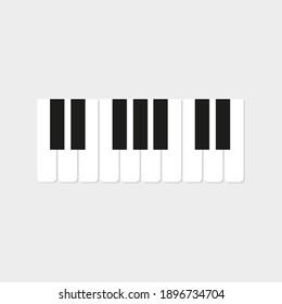 Piano icon . Musical . Flat Design.Keys Icon.Vector Illustration