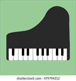 piano icon vector flat web art