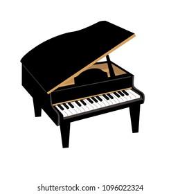 ピアノの楽器のイラスト