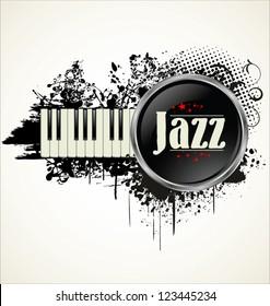 Piano key grunge background