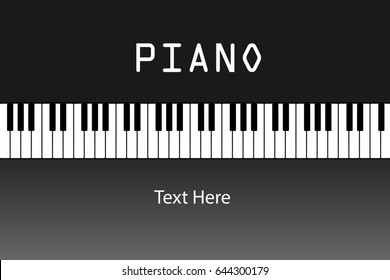 piano keyboard with background