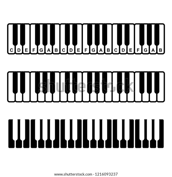 picture regarding Printable Piano Keyboard Template named Keyboard Diagram - Schematics On the internet