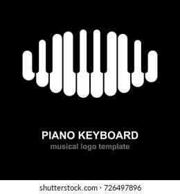 Piano keyboard logo. Music design template.
