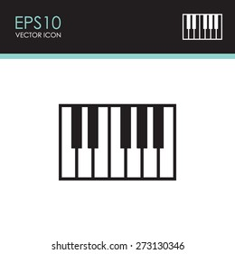 Piano keys icon.