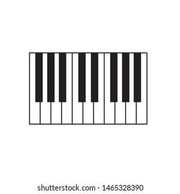 piano keys icon- vector illustration