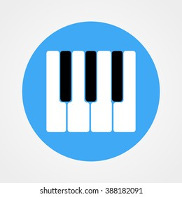 Piano keys icon. Vector illustration