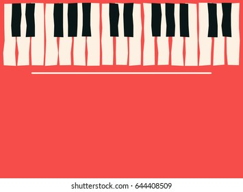 Piano Keys Music Poster Template Jazz And Blues Concert Background Vector