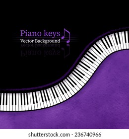 Piano keys vector background.