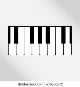 piano keys vector icon