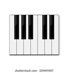 Piano keys. vector illustration