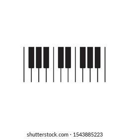 Piano logo icon vector illustration template