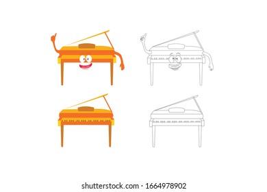 Piano Music Instrument Vector Illustration Bundle