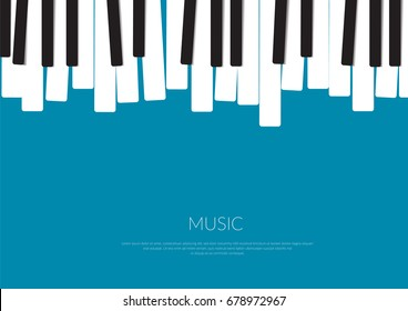 Piano Music Poster. Vector illustration