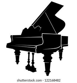 piano simple vector image