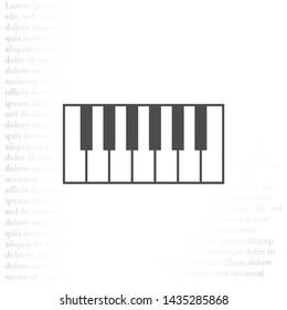 piano vector icon . Lorem Ipsum Illustration design