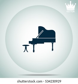 Piano  vector illustration.
