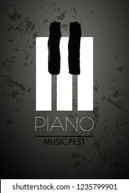 Piano vector illustration music icon