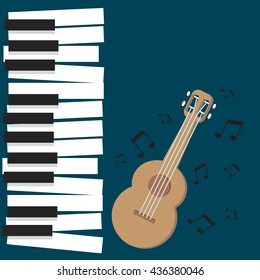 Piano vector for World Music Day with nice and creative illustration in a background.