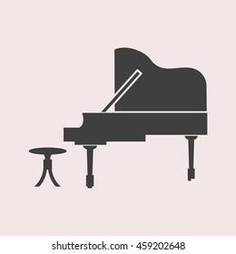 Piano web icon. Isolated illustration
