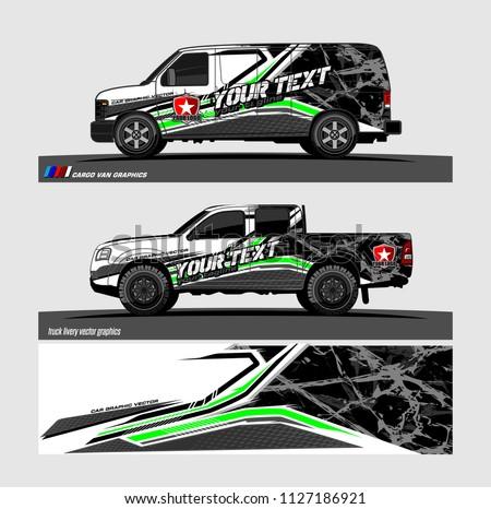 pick truck car decal design vector stock vektorgrafik. Black Bedroom Furniture Sets. Home Design Ideas