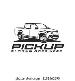 Pick up truck, truck logo template