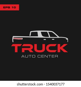 Pick up truck, truck logo template ,abstract design concept automotive topics ,car service ,vector logo design template
