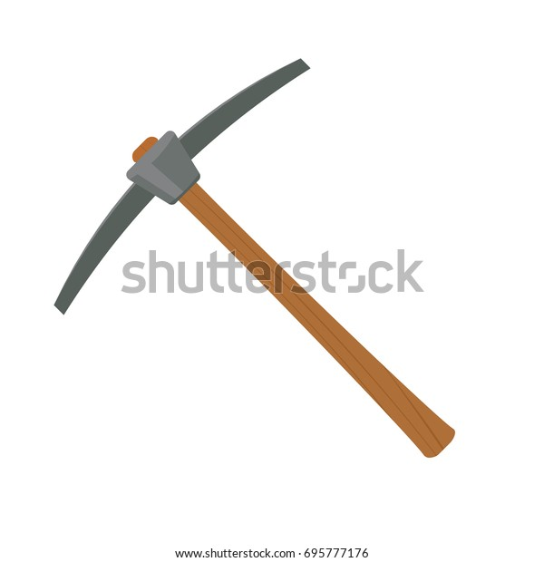 pickaxe mining tool. Clipart image isolated on white background