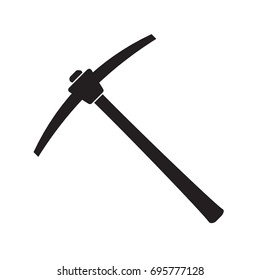 pickaxe mining tool icon. Vector illustration isolated on white background