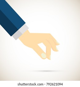 Picking hand. vector