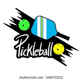Pickle ball racket illustration
