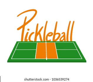 Pickleball courtl illustration