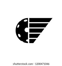 pickleball or floorball symbol design