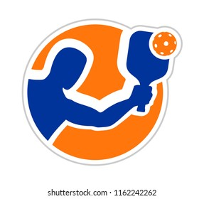 Pickleball sport symbol
