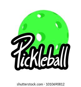 Pickleball symbol design