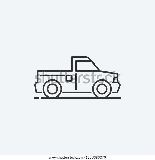 Pickup Car Modern Simple Ui Vector Stock Vector Royalty