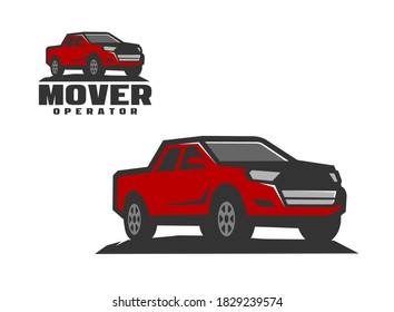 Pickup logo vector for template. Pick up logo template vector. Creative pickup illustration for logo template.