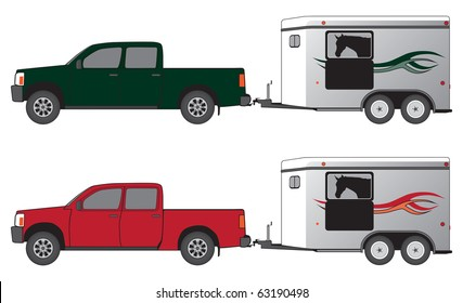 Truck Pulling Trailer Images, Stock Photos & Vectors