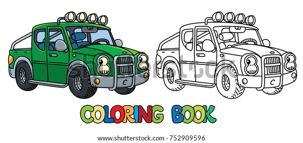 Pickup Truck Coloring Book Kids Small Stock Vector Royalty Free
